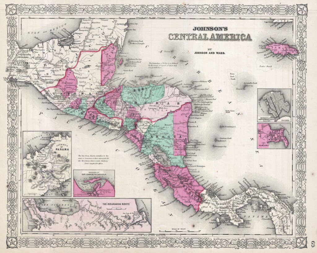 Johnson's Map of Central America