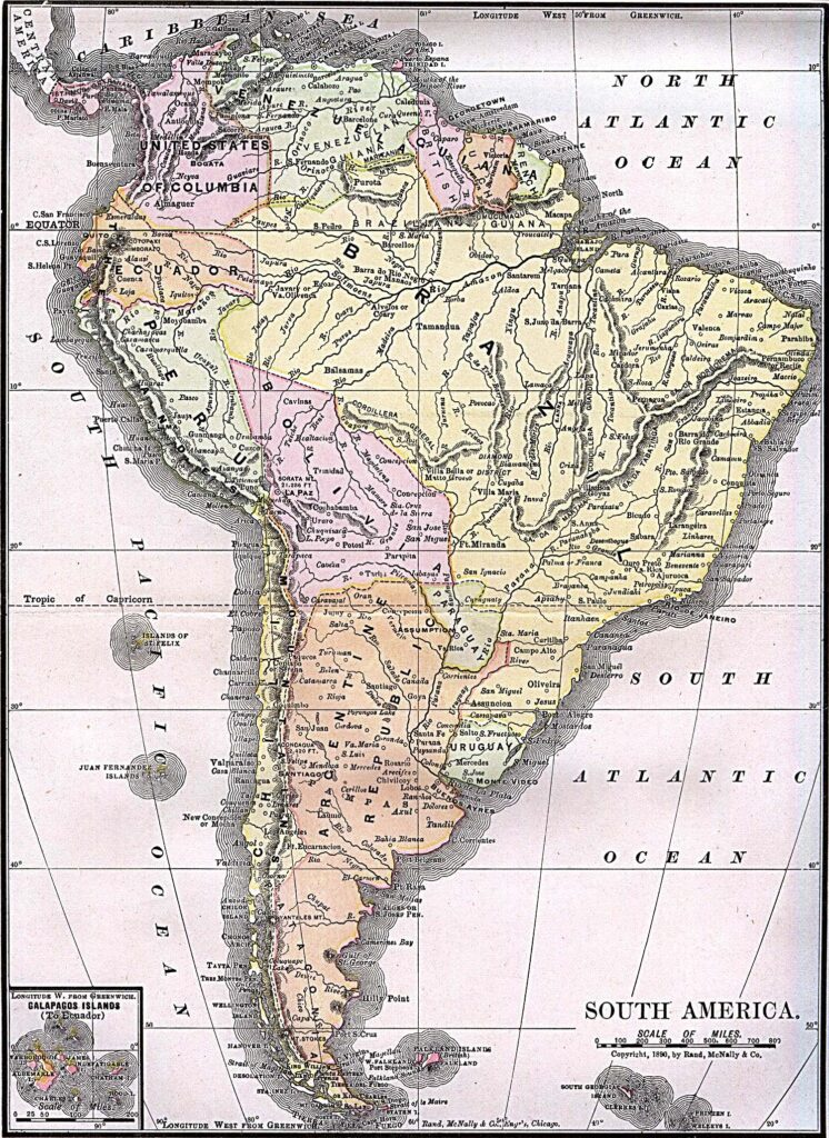 Antique Map of South America