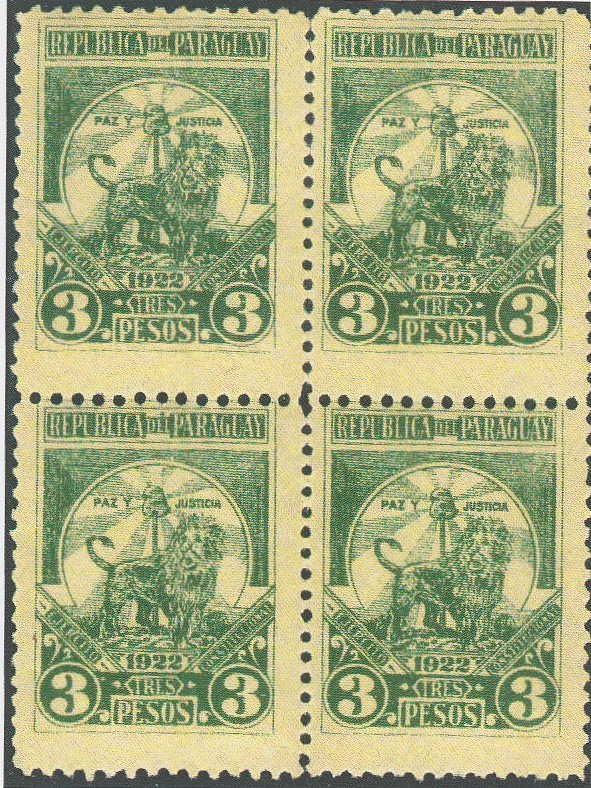 1922 3 pesos unissued revolutionary stamp