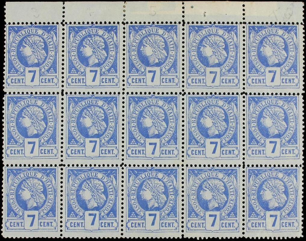 Haiti 1882 Liberty Head 7c Block