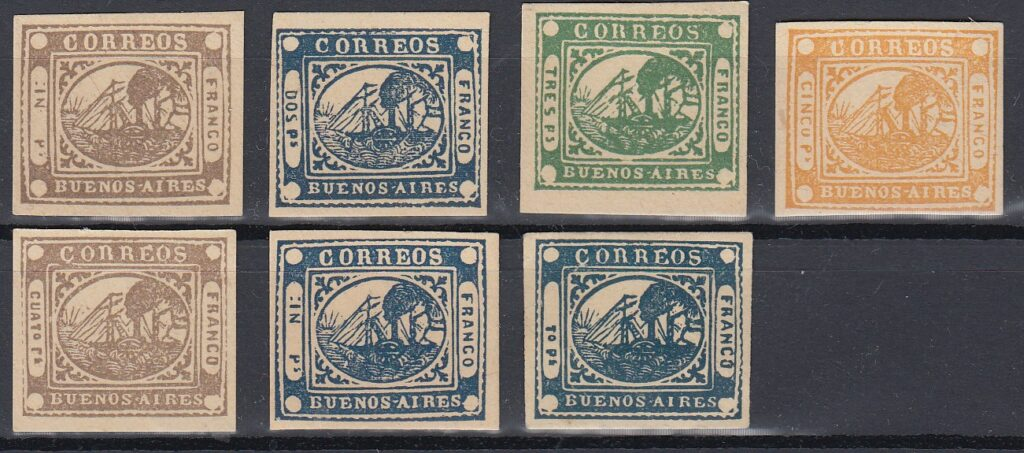 Buenos Aires stamp forgeries