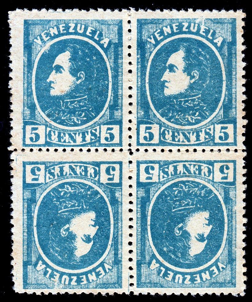 Venezuela 1880 Scott 68 forgery
