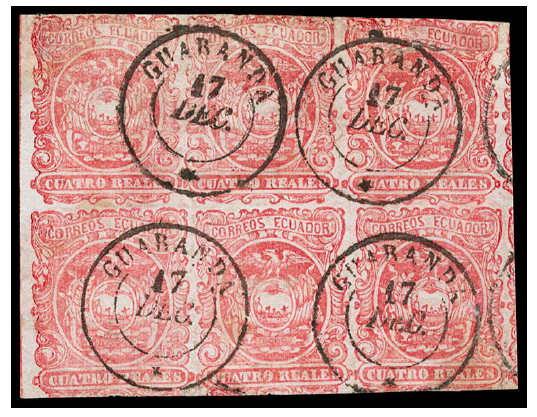 Ecuador 1866 4r Rose Red