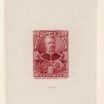 Haiti 1898 President Sam, 50c Rose Brown Sunken Die Proof