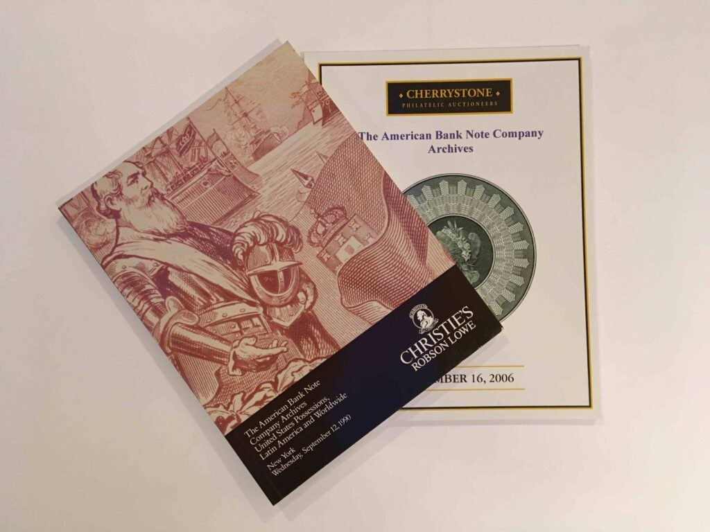 Auction catalogues from the ABNC archive sales