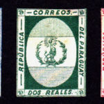 The 1864 Stern essays showing the Paraguay coat of arms
