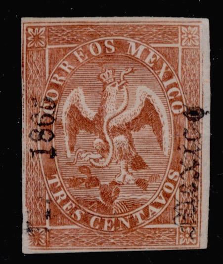 1866 Tres Centavos Eagle