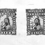 Composite proof of the Paraguay 1879 lion issue