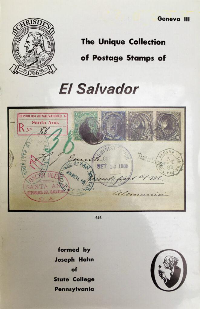 Joe Hahn's El Salvador collection was sold by Christie's in Geneva in 1979